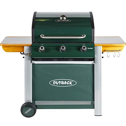 Outback Hunter 3 Burner Gas BBQ - Green