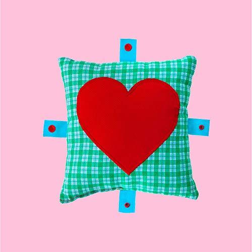 Herzkissen mit Geheimtasche für Liebesbriefe oder Kondome & Betthupferl
