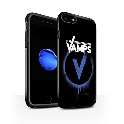 Offiziell The Vamps Hülle / Glanz Harten Stoßfest Case für Apple iPhone 8 / Schlagzeug Muster / The Vamps Graffiti Band Logo Kollektion Blau V