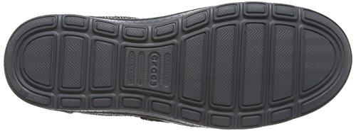 crocs Crocs Norlin Herringbone Herren Slipper Schwarz (Black/Charcoal)