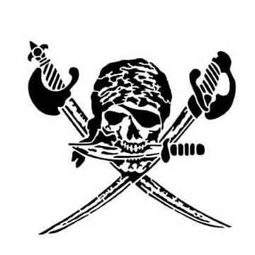 PARTY DISCOUNT ® Tattoo-Schmink-Schablone, Motiv Totenkopf, 7x6cm