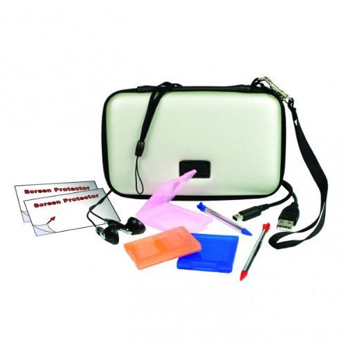 Nintendo 3DS - Starter Pack silbern Case Logic Kit
