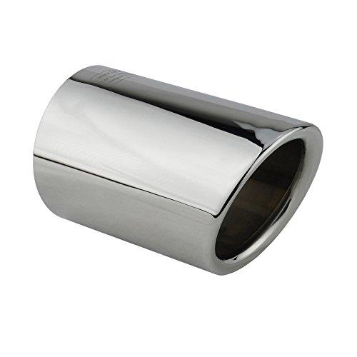 L&P A292 1 Auspuffblende Edelstahl spiegel poliert Chrom Plug&Play Endrohrblenden Endrohrblende für 65mm Auspuff Blende Endrohre Vergleichsnummern 000071911 8P0071771 8P0071761