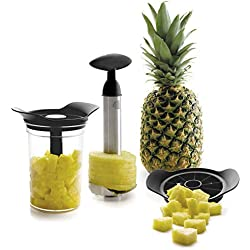 Lacor 60393- Set Taglia e Pela Ananas con Contenitore