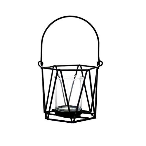 TIREOW Nordisch Retro Eisen Licht Kerzenhalter Lampe Laterne Teelicht Kerze Gestell Laterne...