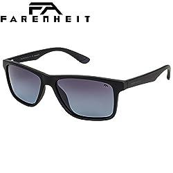 Farenheit Polarized Wayfarer Unisex Sunglasses - (SOC-FA-2337P-C1 57 Blue Color Lens)