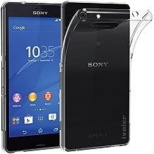 Sony Xperia Z3 Compact Funda, iVoler TPU Silicona Case Cover Dura Parachoques Carcasa Funda Bumper para Sony Xperia Z3 Compact, [Ultra-delgado] [Shock-Absorción] [Anti-Arañazos] [Transparente]- Garantía Incondicional de 18