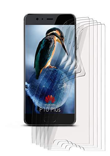moex 5X Huawei P10 Plus | Schutzfolie Klar Bildschirm Schutz [Crystal-Clear] Screen Protector Display Handy-Folie Dünn Bildschirmschutz-Folie für Huawei P10 Plus Bildschirmfolie