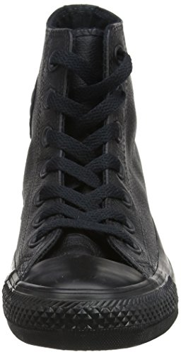 Converse Chucks Taylor All Star Hi Leder, Unisex - Erwachsene Sneaker Schwarz (Schwarz)