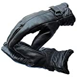 LatestHomeStore 1 Pair Special Black High Quality Soft Leather Warm Winter Protective Riding Gloves for Cycling Byke Bike Motorcycle for Men, Boys, Male Gents {Universal Size}