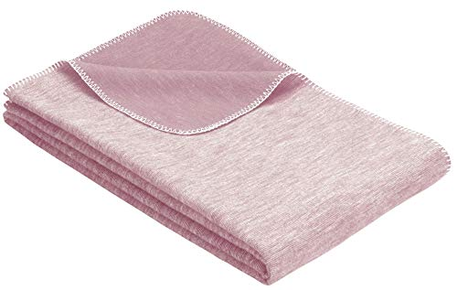 Flauschige Babydecke aus 100{732a8f37c12cb6e08755e41651b5dd84f9fafa7637c97d0a58da1273d8fe8c38} Bio Baumwolle - kuschelige Baumwolldecke hergestellt in DEUTSCHLAND. Ideal als Baby Decke, Erstlingsdecke, Einschlagdecke oder Kuscheldecke - Rosa für Mädchen