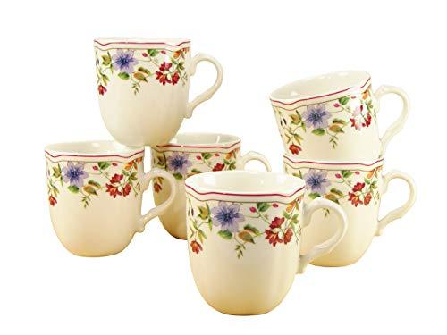 Creatable, 16143, Serie Cornwall Garden, Geschirrset Kaffeebecher 6 teilig