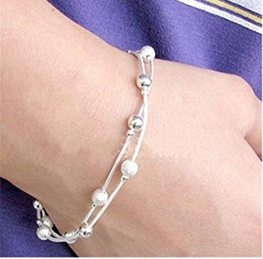 T.sewing 1pcs bracciale in argento a forma di bracciale doppio serpente vintage a doppia riga