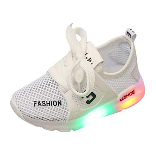 LILIHOT Kleinkind Sportschuhe Kind Kinder Baby Mädchen Mesh Atmungsaktive LED Leuchtende Turnschuhe Sandalen Geschlossene Sommerschuhe Sandaletten Outdoor Sport Lauflernschuhe