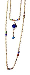 CageaNana-Sautoir Vava double rangs pierre gems bleue Saint Valentin-femme