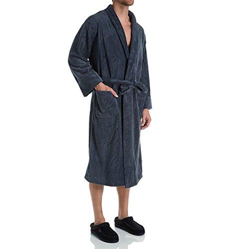 Hanes Herren-robe (Herren Soft Touch Cozy Fleece Robe, Anthrazit, LT / XLT)
