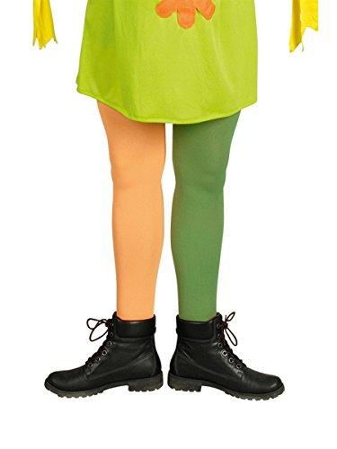 Körner Lange Strümpfe, grün / orange, 1 Paar