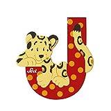 Trudi Tierbuchstaben J Jaguar 10 cm Holz