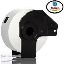 5pcs rollo de DK11201DK 11201hermano Compatible etiquetas de dirección 29mm x 90mm