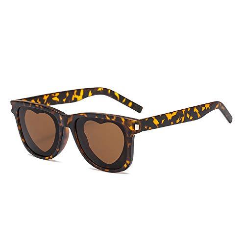 MINGMOU Sonnenbrille Neue Liebe Sonnenbrille Retro Quadratische Sonnenbrille Trend Reis Nagel Sonne, C740