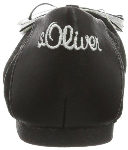 s.Oliver Casual 5-5-42204-22 Mädchen Ballerinas Schwarz (Black 1)