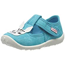 Superfit Girls' Spotty Low-Top Slippers, Turquoise (Grün 71), 4.5 UK