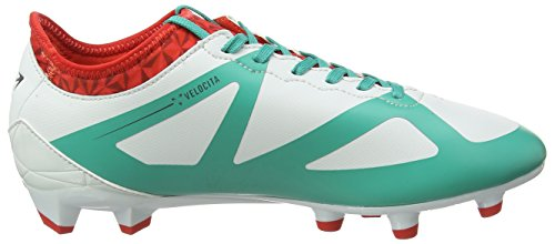 Umbro Velocita Iii Premier Hg, Chaussures de Football Homme Multicolor (Dawn Blue/Carbon/Fiery Red/Spectra Green Epe)