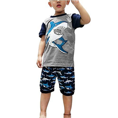 DIASTR Baby Jungen Kleidung Set 2 PCS Kurzarm Shirt + Hai Shorts Mama's Boy Neugeborenes Outfit Sommer Bekleidungsset (0M-6Y) -