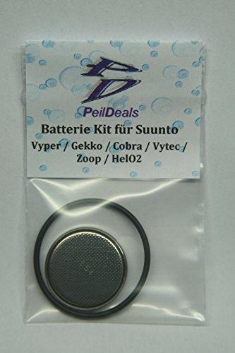 PeilDeals Batterie-Set/Kit für SUUNTO Vyper, Gekko, Cobra, Vytec, Zoop, HelO2