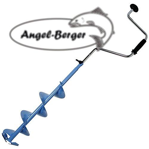 Angel Berger Höhenverstellbarer Eisbohrer 15cm zum Eisangeln