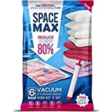 SPACE MAX Spacemax Premium worki próżniowe wielokrotnego użytku (opakowanie 6 sztuk) pozwalają zaoszczędzić 80% więcej miejsc