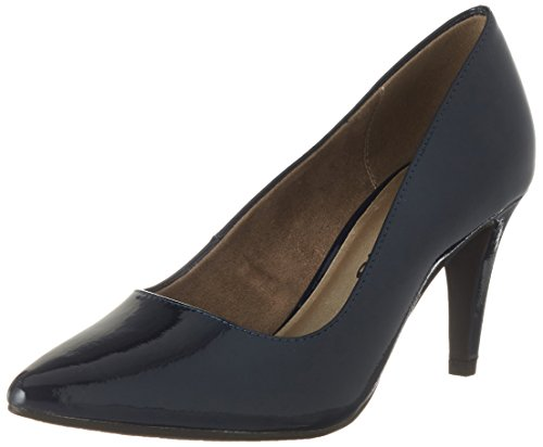 Tamaris Damen 22447 Pumps, Blau (Navy Patent), 37 EU