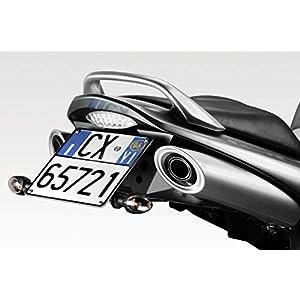 GSR600 2006/10 - Kit Kennzeichenhalter (R-0590) - Einstellbare Nummernschild Halter - inkl. LED und Hardware-Bolzen - Motorradzubehör De Pretto Moto (DPM Race) - 100% Made in Italy