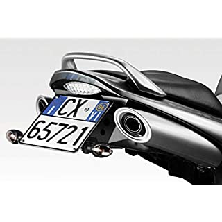 GSR600 2006/10 - Kit Kennzeichenhalter (R-0590) - Stahl Nummernschildhalter Halteplatte - inkl. LED und Hardware-Bolzen - Motorradzubehör De Pretto Moto (DPM) - 100% Made in Italy