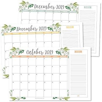 Desk-Calendar-2020-11x17-Desktop Pad Calendar Academic Wall Calendar Monthly 12