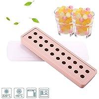 Moldes de silicona para cubitos de hielo, Surenhap Mini 20 para hacer bolas redondas de