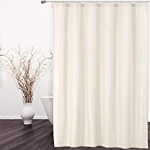 Hotel Quality 100% Waterproof Fabric Shower Curtain or Liner with Magnets for Bathroom, Ivory, 72 x 84 inches