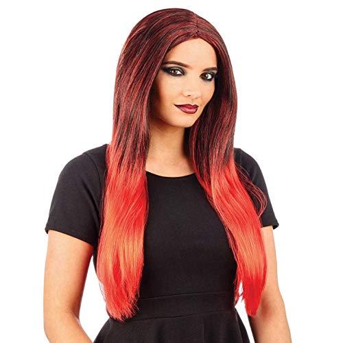 Fun Shack Damen Costume Kostüm, Ombre Wig Red, - Fun Dip Kostüm