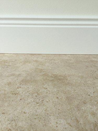 *PVC-Bodenbelag in klassischer Marmoroptik Hell | Muster | Fußboden-Belag in Steinoptik | Vinylboden Fußbodenheizung geeignet | rutschhemmende PVC Planken für den Wohnbereich | Made in Germany*