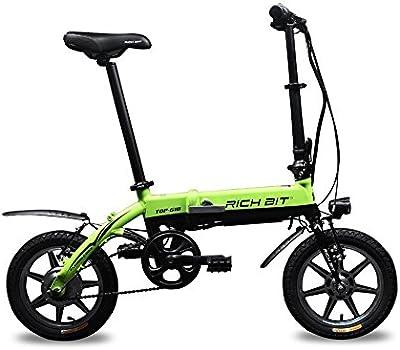 Bicicleta eléctrica bicicleta plegable bici Ciclismo Rich Bit® RT618 250W * 36V*8Ah LG Recargable Ruedas de 14