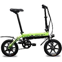 "Bicicleta eléctrica bicicleta plegable bici Ciclismo Rich Bit® RT618 250W * 36V*8Ah LG Recargable Ruedas de 14 ""Ciudad Commute Bicicleta Larga Duración Nueva Moda Pintura Verde"