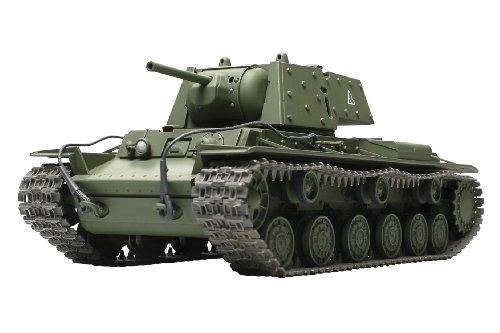 TAMIYA 300032545 - WWII Russischer Schwerer Panzer.KV-1B mit .Zusatzpanzerung, Militär-Bausatz 1:48