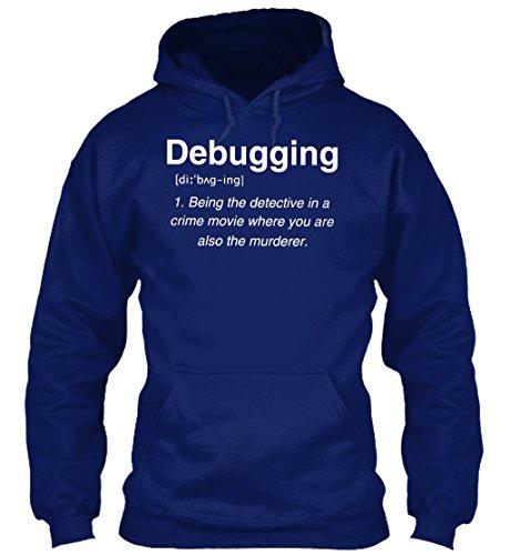 Bequemer Hoodie Damen / Herren / Unisex von Teespring   Originelles Outfit für jeden Anlass und lustige Geschenksidee - Debugging/ Fehlerbeseitigung - Detektiv und Mörder im Krimi Detektiv Outfit