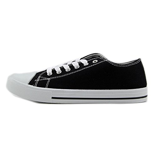Qupid Narina-01 Textile Turnschuhe Black Canvas