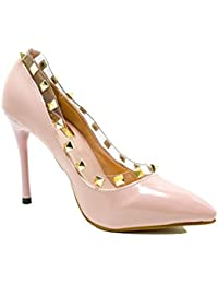 FORWARD New Style Ladies High Heels Leather Pumps With Rivets