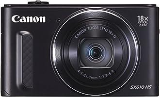 """Canon Powershot SX610 HS Appareil photo numérique Compact 20,2 Mpix Ecran 3"""" Zoom optique 18x - Noir"""