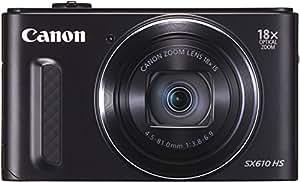 Canon SX610 HS PowerShot Fotocamera Compatta Digitale, 20 MP, Nero