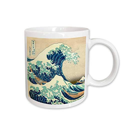 3dRose Tasse 155631_ 1The Great Wave Off Kanagawa vom japanischen Künstler Hokusai Dramatische Blue Sea Ocean Ukiyo Print 1830Keramik Tasse, 11-Ounce -