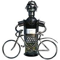 Porte-bouteille de vin Sculpture en Métal avec vélo de eXODA