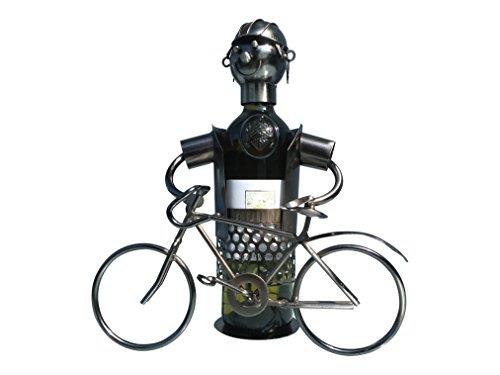 eXODA Weinflaschenhalter Metall Figuren Fahrrad Design Deko